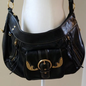 Handbags - Black Buckled Faux Leather Bag